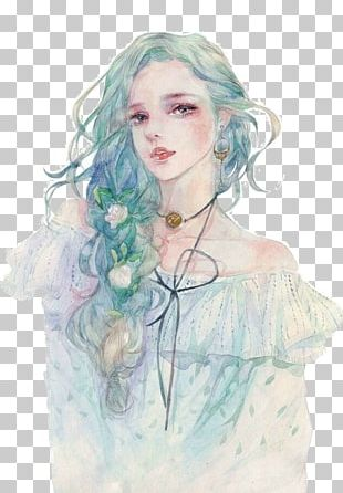 Drawing Watercolor Painting Anime Illustration PNG