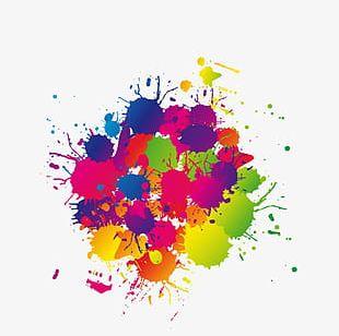 Free Color Splash Effect Pull Element PNG