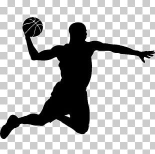 Basketball Player Slam Dunk Silhouette PNG