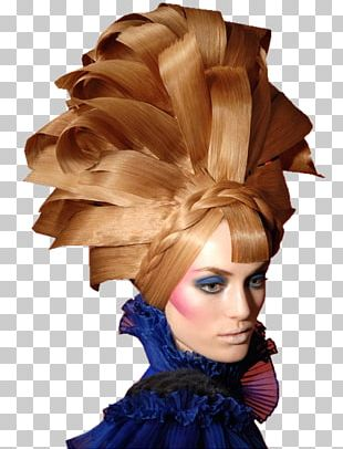 Cosmetologist Hair Coloring Blond Wig PNG