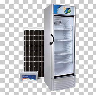 Solar-powered Refrigerator Solar Energy Solar Panels Home Appliance PNG