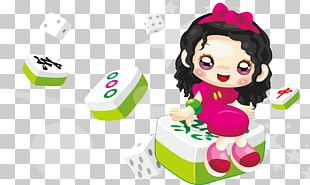Mahjong Cartoon Illustration PNG