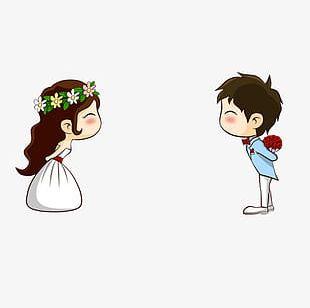 Cartoon Sina Bride PNG