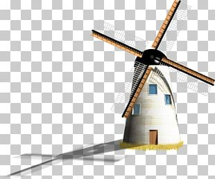 Netherlands Windmill Illustration PNG