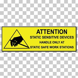 Sticker Electrostatic-sensitive Device Label Sign Static Electricity PNG