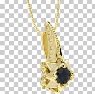 Locket Necklace Gold Charms & Pendants Sapphire PNG