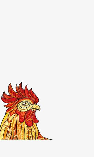 Art Red Crown Rooster PNG