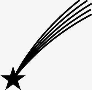 Simple Black Stars PNG