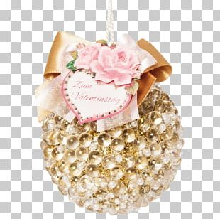 Christmas Ornament Jewellery Pink M PNG