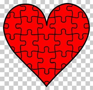 Jigsaw Puzzle Heart Valentines Day PNG