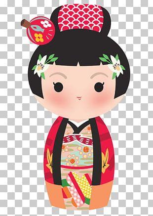 Kokeshi Japanese Art PNG