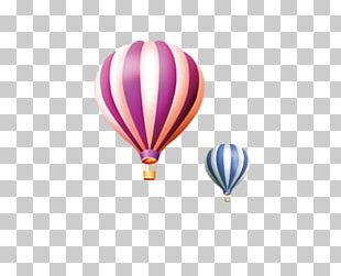 Hot Air Balloon Cartoon Drawing PNG