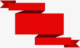 The Red Ribbon Banner PNG