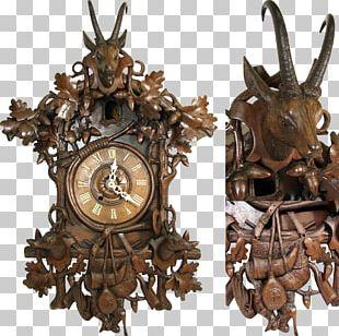 Cuckoo Clock Black Forest Antique Mantel Clock PNG