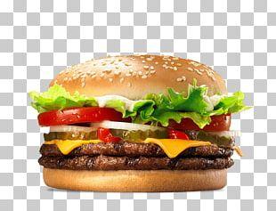 Whopper Cheeseburger Hamburger Big King French Fries PNG