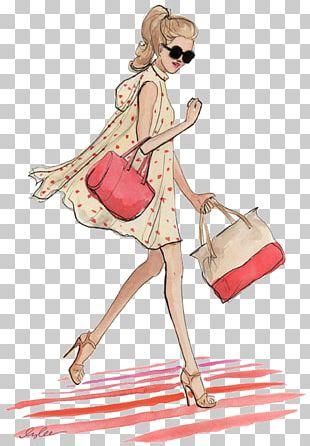Fashion Illustration Model Drawing Sketch PNG