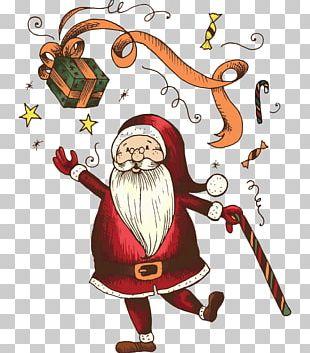 Wedding Invitation Santa Claus Mockup Greeting Card PNG