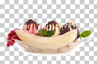 Banana Split Sundae Chocolate Ice Cream PNG