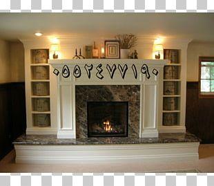 Fireplace Mantel Brick Renovation Hearth PNG