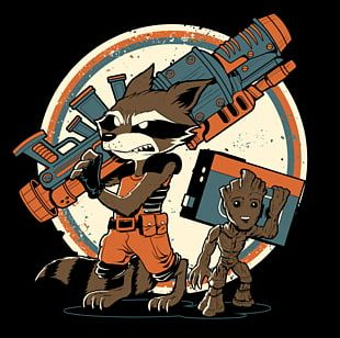 Rocket Raccoon Baby Groot Star-Lord Drax The Destroyer PNG