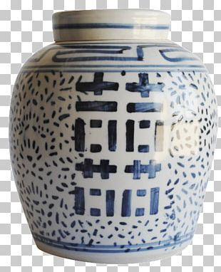 Ceramic Urn Blue And White Pottery Vase Porcelain PNG