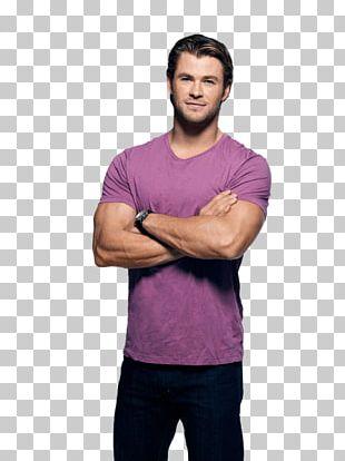 Chris Hemsworth Purple Tshirt PNG
