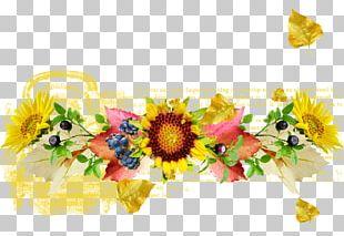 Common Sunflower Floral Design Cut Flowers Flower Bouquet PNG