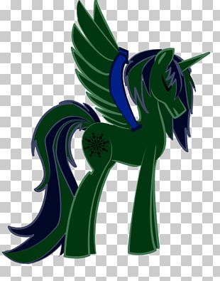 Horse Green Legendary Creature Animated Cartoon PNG
