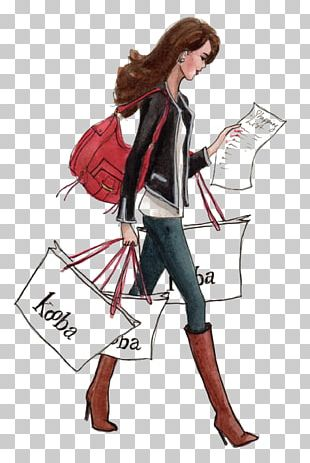 Shopping Fashion Drawing Personal Shopper Sketch PNG