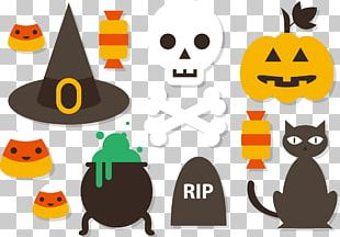 Halloween Flat Design Illustration PNG
