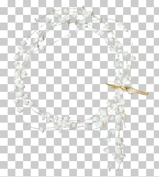 White Frame Photography Wreath PNG