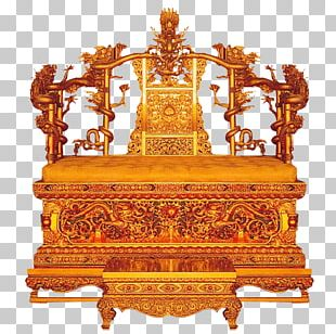 Forbidden City Qing Dynasty Emperor Of China Throne Table PNG
