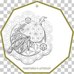 Yin And Yang Sacred Geometry Symbol Design PNG