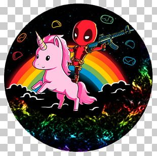 Deadpool Unicorn Drawing Marvel Comics T-shirt PNG