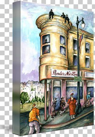 Watercolor Painting Art San Francisco Canvas PNG