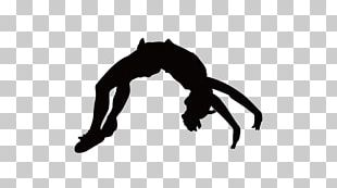 Cheerleading Silhouette Tumbling Gymnastics PNG