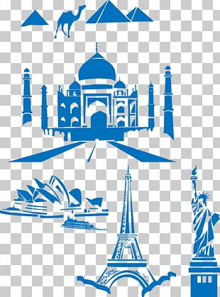 Eiffel Tower Statue Of Liberty Taj Mahal PNG