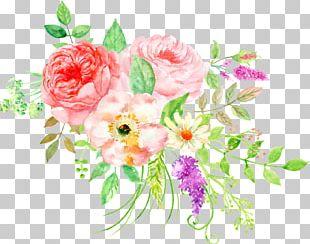 Flower Bouquet Watercolor Painting Floral Design PNG