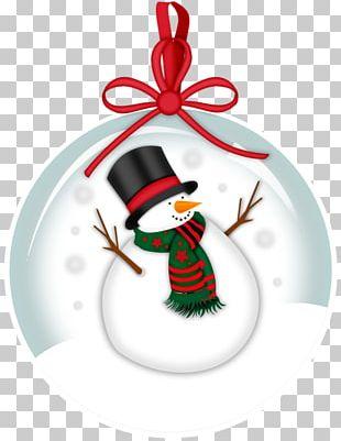 Snowman Christmas Ornament PNG