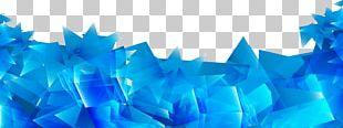 Blue Geometry PNG