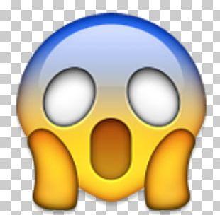 Emoji Screaming Sticker IPhone Fear PNG