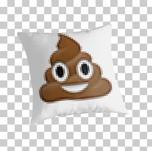 Pile Of Poo Emoji Feces Shit Cushion PNG