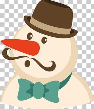 Christmas Card Snowman Postcard PNG