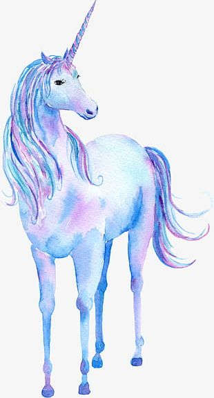 Unicorn Cartoon Animal PNG