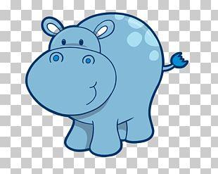 Hippopotamus Cuteness Drawing PNG