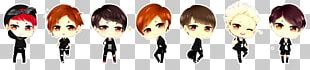 BTS Drawing Chibi Fan Art PNG