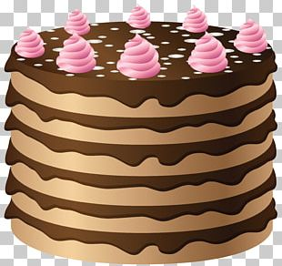 German Chocolate Cake Frosting & Icing Cream Ganache PNG