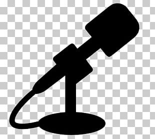 Microphone Silhouette Drawing Music PNG