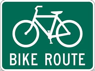 Bike Path Bicycle Cycling Road Sign PNG