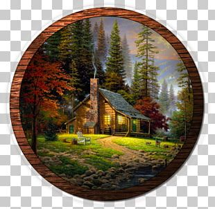 Forest Landscape Painting Oil Painting PNG